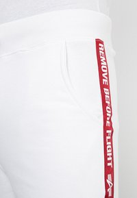 Alpha Industries - TAPE JOGGER - Tracksuit bottoms - white - 3