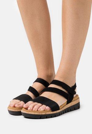 Wedge sandals - schwarz