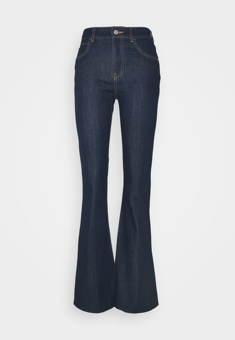 Emporio Armani - POCKETS PANT - Flared Jeans - denim blu