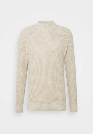 SLHNATHAN HIGH NECK - Pullover - oyster gray