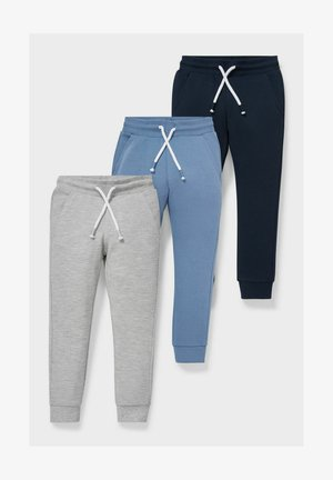 3 PACK - Tracksuit bottoms - blue / gray