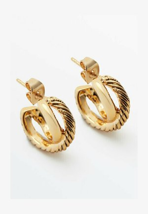 MIT TEXTUR - Earrings - gold
