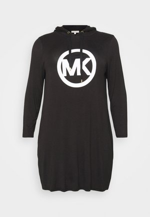 CIRCLE HOODIE DRESS - Day dress - black