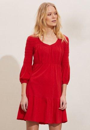 GLORIA - Jersey dress - cherry red