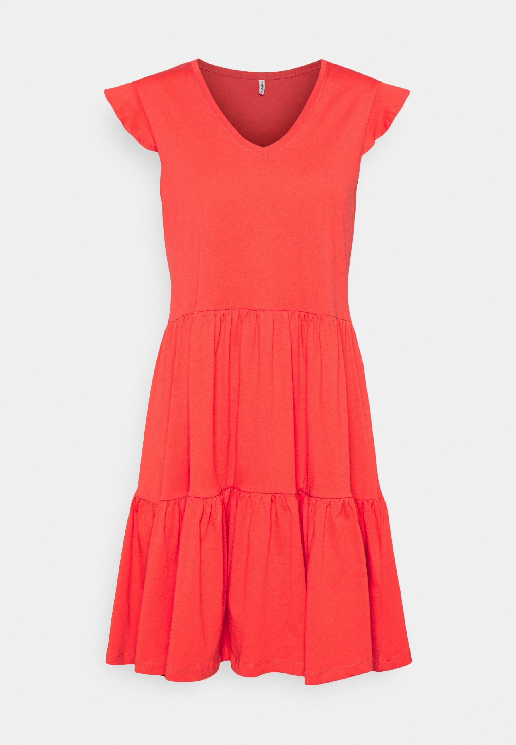 Women ONLMAY LIFE CAP FRILL DRESS - Jersey dress