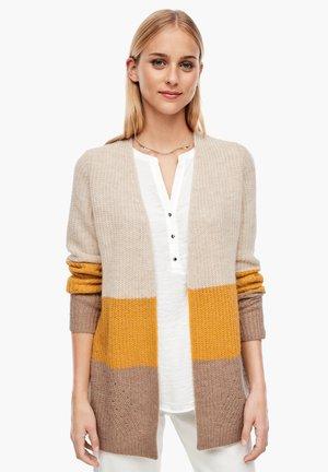 Cardigan - beige/yellow stripes