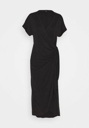 ENLIE WRAP DRESS - Jerseykjole - black dark