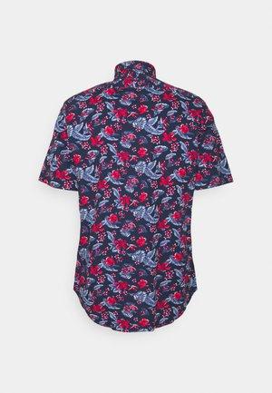 Shirt - navy/red/white