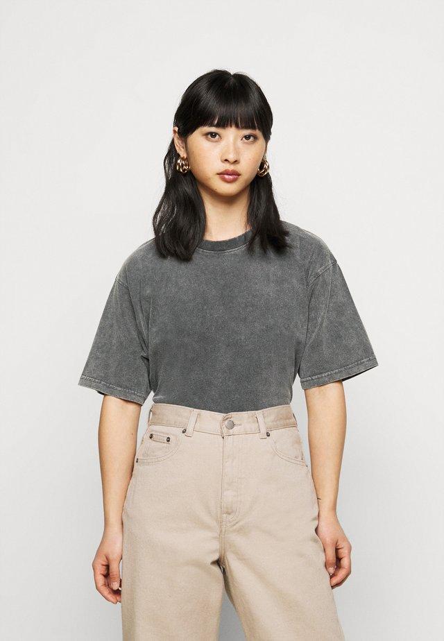 2 PACK - T-shirt basic - grey/black