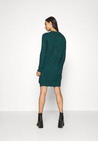 Even&Odd - Strikket kjole - dark green - 2