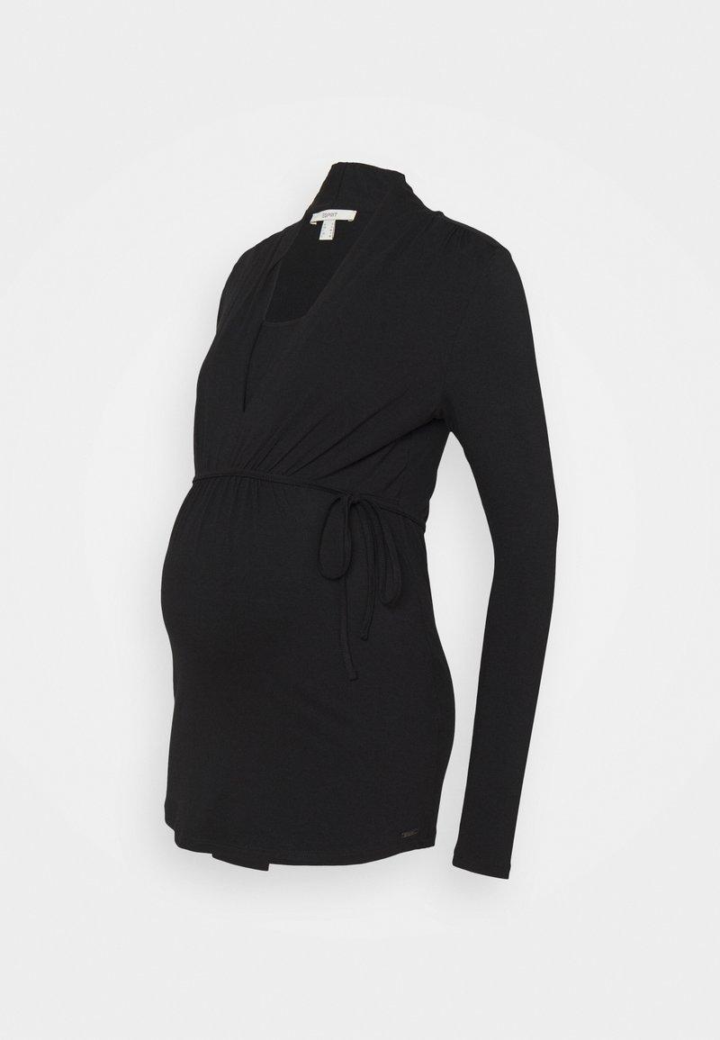 Esprit Maternity - NURSING - Topper langermet - black
