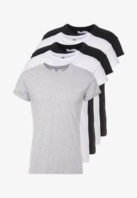 Topman - 5 PACK - T-shirts basic - white/black/grey - 5