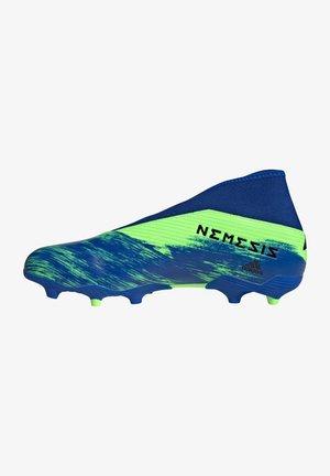 NEMEZIZ  - Moulded stud football boots - signal green / core black / royal blue