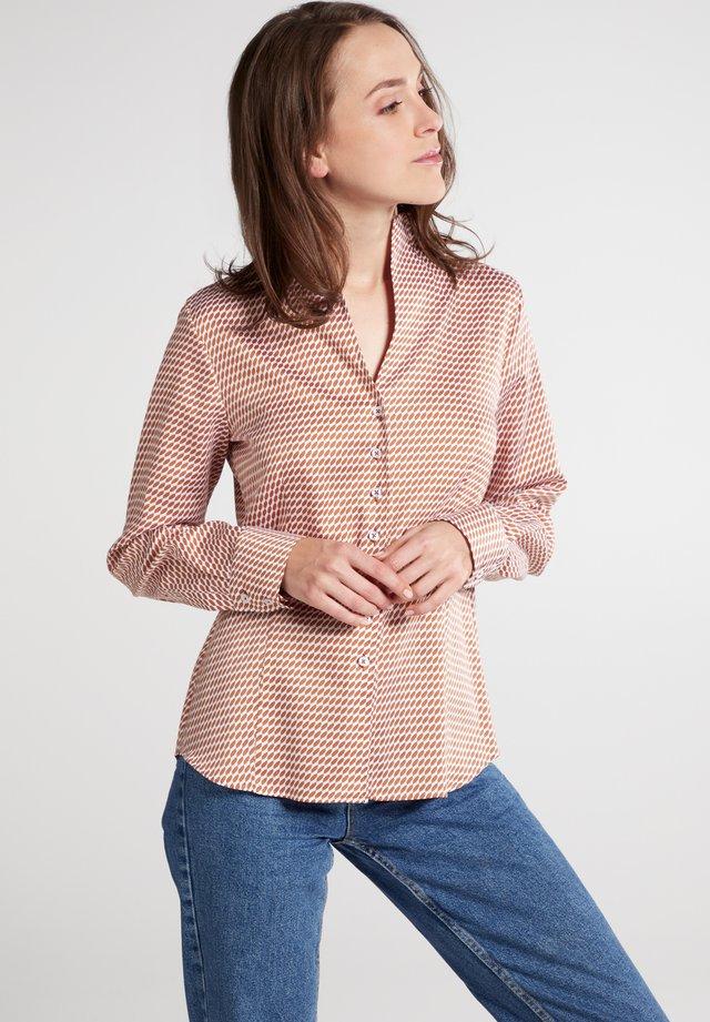 MODERN CLASSIC - Overhemdblouse - braun/weiß