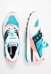 Saucony - AZURA - Baskets basses - white/capri/vizicoral - 1