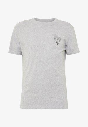 Triko spotiskem - mottled grey