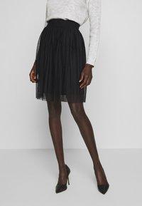 Even&Odd Tall - A-line skirt - black - 0