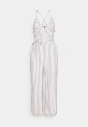 (SSMOCKED BODICE  - Jumpsuit - white/tan