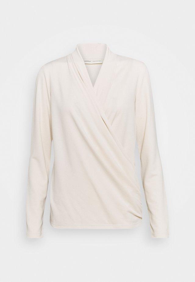 ALANOIW WRAP  - Långärmad tröja - french nougat