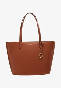 Lauren Ralph Lauren - VEGAN TOP ZIP TOTE - Håndtasker - tan/orange - 5