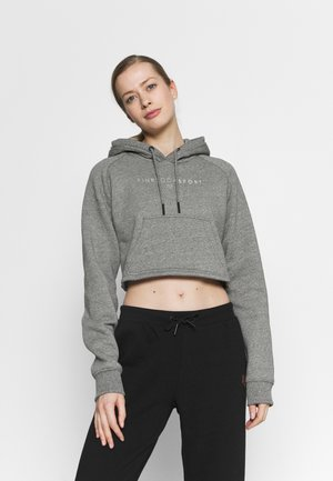 RUBY CROP HOODIE - Jersey con capucha - grindle/silver