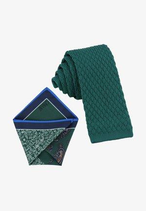 CRAVATTA MAGLIA & ARTEQUATTRO SET - Pocket square - opal grün   royal blau paisley & punkte