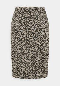 Vila - VIMINNY PENCIL SKIRT - Pencil skirt - black/leo - 1