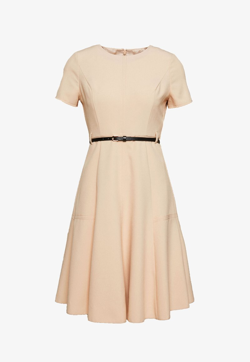 Dorothy Perkins Petite - PETITES FIT AND FLARE SHORT SLEEVE DRESS - Kjole - stone
