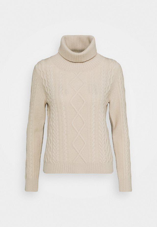 PENSILE - Stickad tröja - elfenbeinfarben