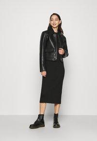 G-Star - PLATED LYNN DRESS MOCK - Tubino - black - 1