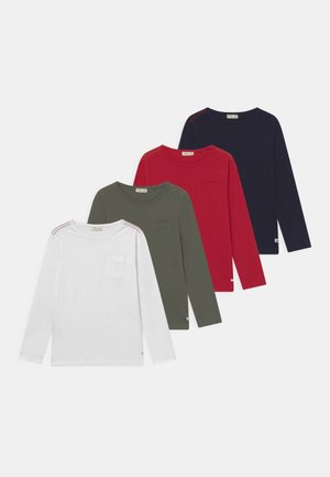 4 PACK - Langarmshirt - scarlet sage/beetle/sky captain/brilliant white