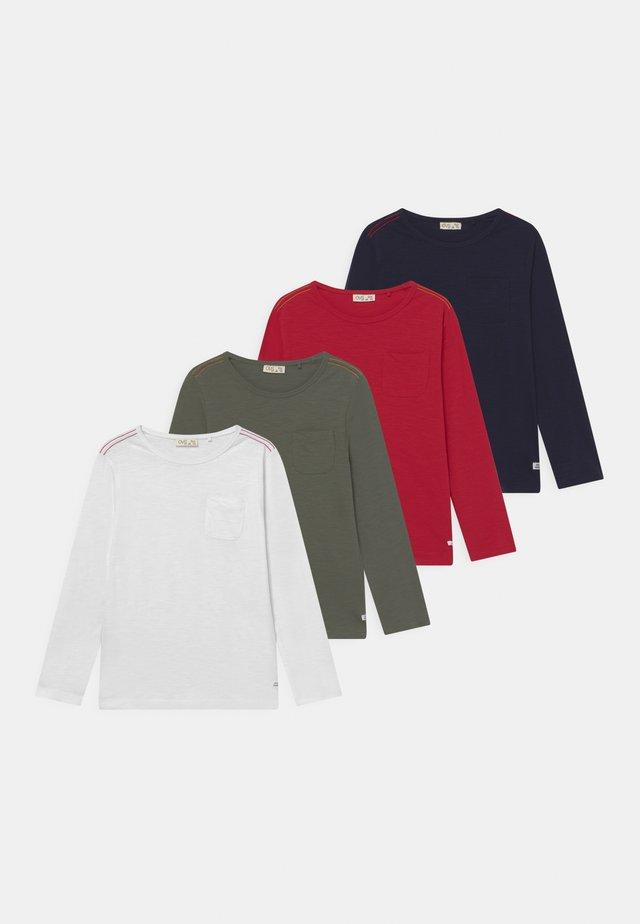 4 PACK - Topper langermet - scarlet sage/beetle/sky captain/brilliant white