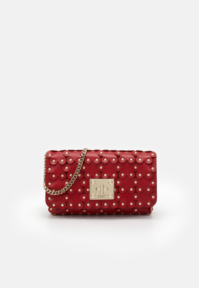 Red V - FLOWER PUZZLE WALLET ON CHAIN - Clutch - red kiss
