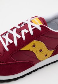 Saucony - JAZZ ORIGINAL VINTAGE - Baskets basses - burgundy/mustard - 5