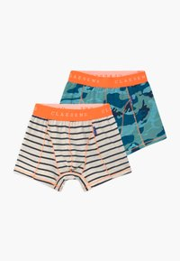 Claesen's - BOYS 2 PACK - Pants - dark blue/turquoise/mint - 0