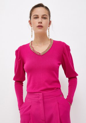 WITH PUFF SLEEVES - Jumper - pink