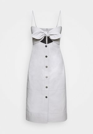 LIGHTWEIGHT KNOTTED TOP DRESS - Etui-jurk - grey