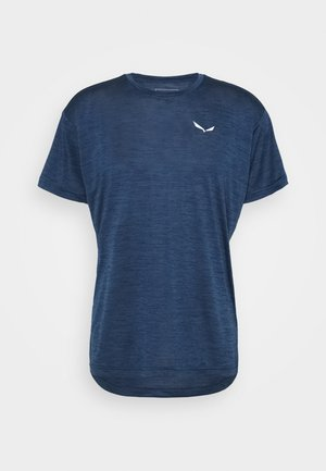 PUEZ DRY TEE - Basic T-shirt - dark denim melange