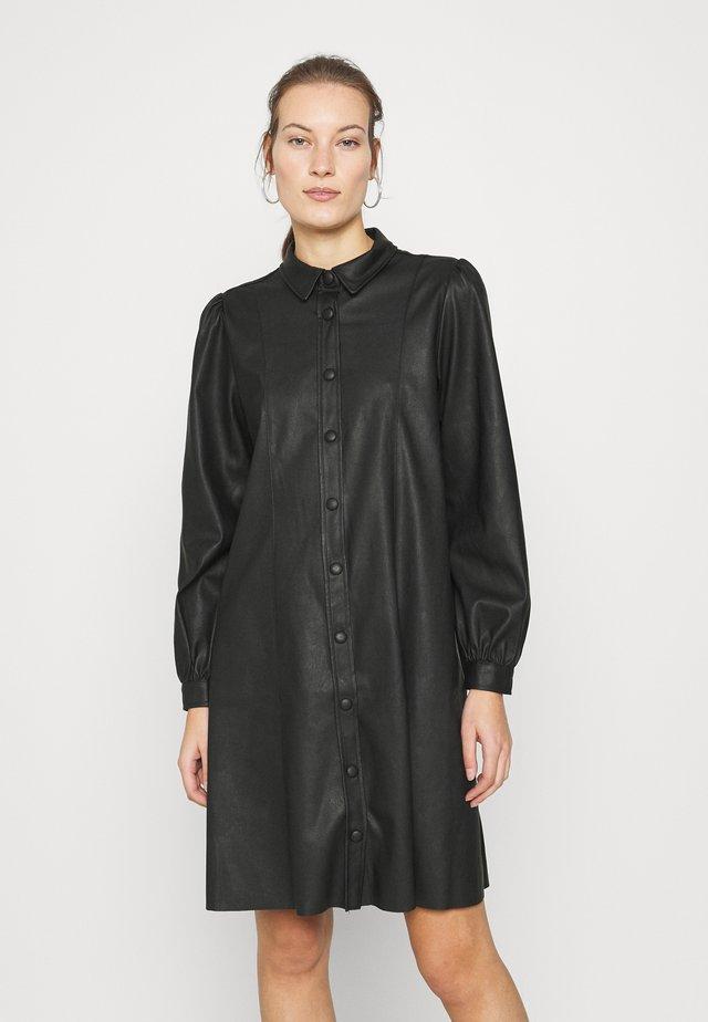 GAMAL DRESS - Abito a camicia - black