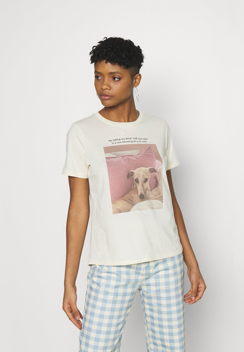 Gina Tricot - IDA TEE - Print T-shirt - cloud