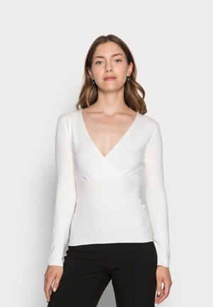 WRAP SLIM FIT JUMPER  - Sweter -  off-white