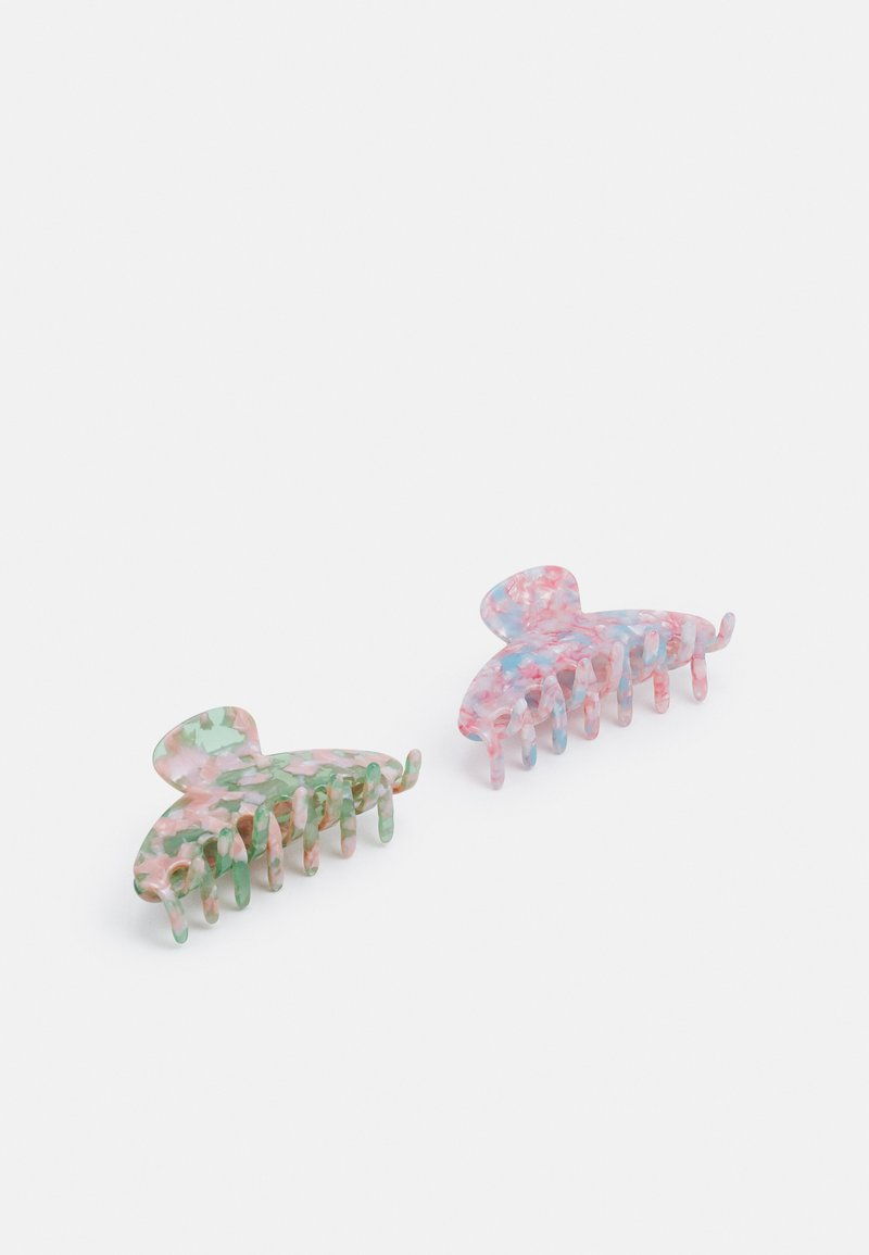 Pieces - PCJANDA HAIR SHARK 2 PACK - Hair Styling Accessory - jade lime/blue/rose