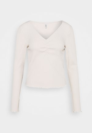 ONLNUVELLA LIFE VNECK - Long sleeved top - pumice stone