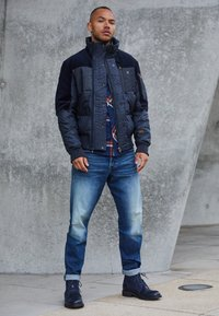 G-Star - SCUTAR 3D SLIM TAPERED - Jeans Tapered Fit - elto pure stretch denim- antic faded baum blue - 5