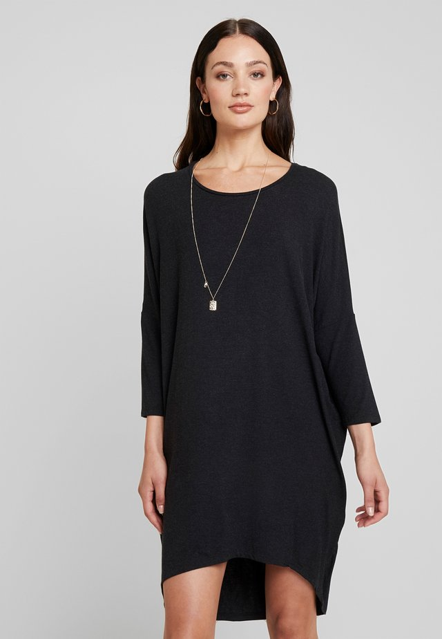 TILDE DRESS - Jerseyjurk - mottled dark grey