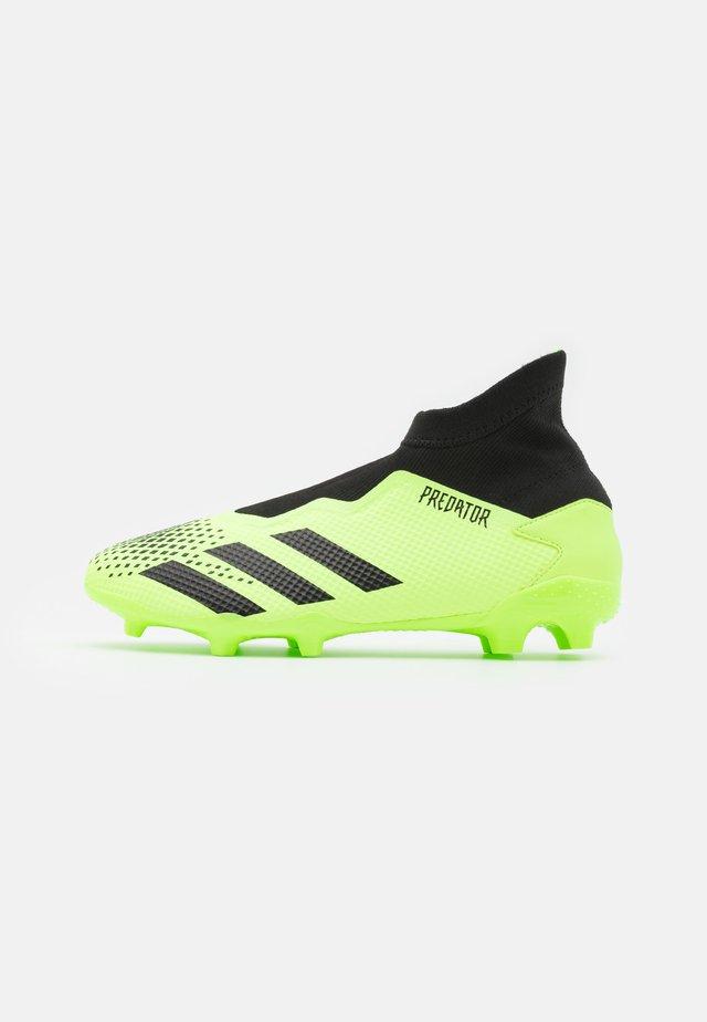 FOOTBALL BOOTS FIRM GROUND - Chaussures de foot à crampons - signal green/core black/