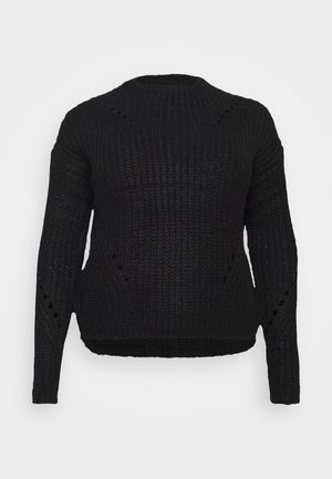 VMPACA POINTELLE O NECK  - Jumper - black