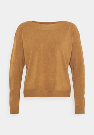 ONLAMALIA BOATNECK - Jumper - tobacco brown