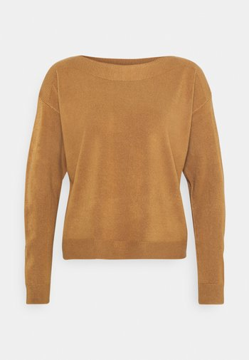 ONLAMALIA BOATNECK - Jumper - tobacco brown