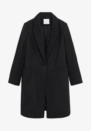 BASIC7 - Classic coat - schwarz